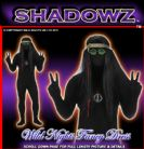 FANCY DRESS SHADOWSUITS/SKINZ/ZENTAI SUITS - 70'S HIPPY SMALL